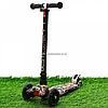 Самокат трехколесный Best Scooter разноцветный пластик, 4 колеса PU, свет d=12см (113-95765)