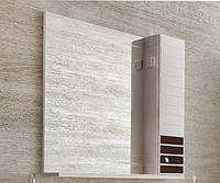 Зеркало с подсветкой и правосторонним шкафчиком Аква Родос Империал 85 венге