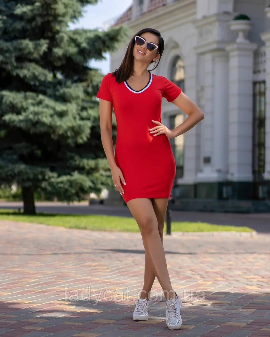 Летнее короткое облегающее платье