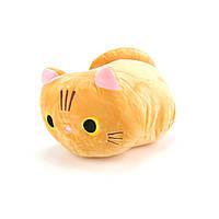 Мягкая игрушка, подушка, котик, 35 см