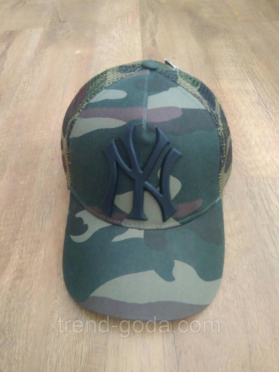 Кепка бейсболка NY Cap (New York) хаки камуфляжный унисекс