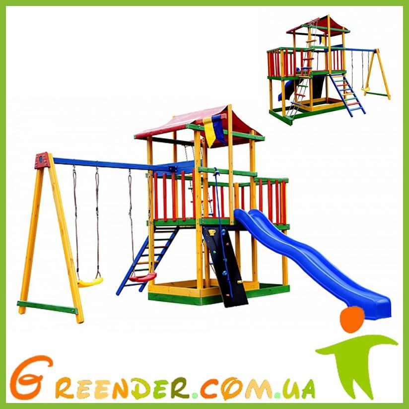 Детская спортивная площадка цветной Babyland-11