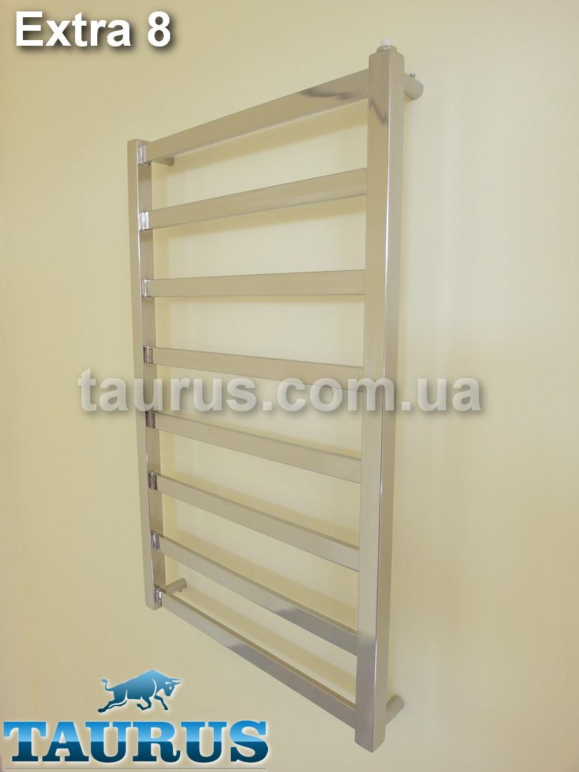 Средняя по ширине сушка для полотенец из нержавеющей стали Extra 8/ 850х450 мм. Плоская труба. High tech стиль