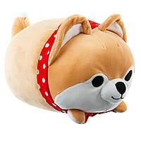 Мягкая игрушка, собака акита-ину, маленькая, 36 см