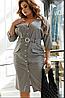 Сукня-сорочка в клітку, з 48-58 розмір