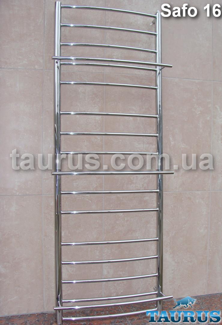 Громадный полотенцесушитель Safo 16/1500х500 из нержавеющей стали с выступающими полочками 3 шт.