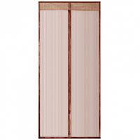 Антимоскитная сетка на дверь на магнитах Vegas 130х220 см Коричневая