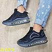 Кроссовки черные на амортизаторах силиконовой подушке, фото 9