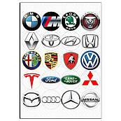 Знаки автомобильные вафельная картинка