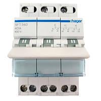 Перемикач I-0-II 3р 40А 400В Hager sft340