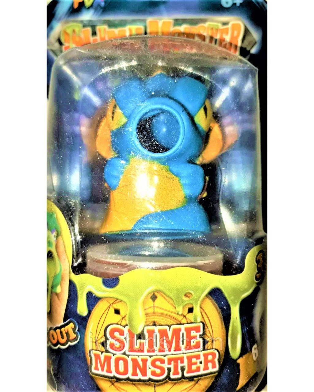 СЛАЙМ  Slime  с игрушкой плевалкой ДРАКОН голубой монстер Slime monster