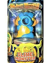 СЛАЙМ  с игрушкой монстр Slime monster голубой ДРАКОН
