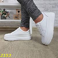 Криперы кроссовки на высокой платформе белые