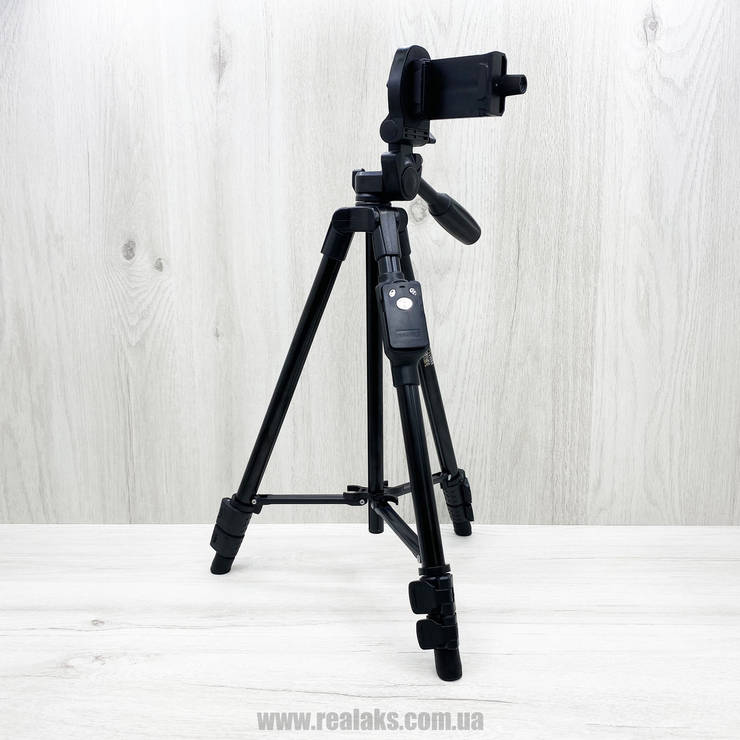 Штатив для телефону фотоапарата YUNTENG VCT 5208 (Black), фото 2