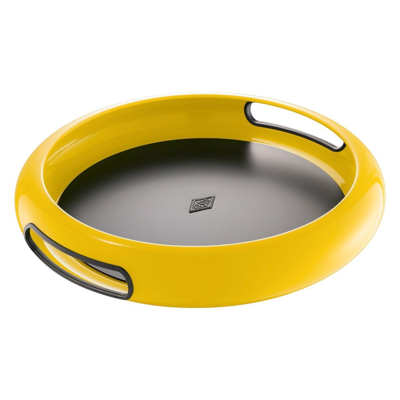 Поднос круглый Wesco Spasy Tray желтый 322101-19
