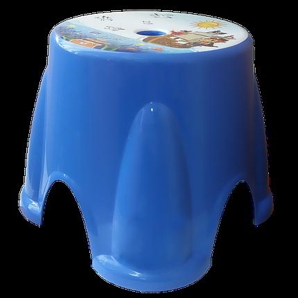 Табурет Irak Plastik Ton Ton №1 синий, фото 2