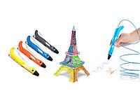 3D Ручка PEN-2 с LCD-дисплеем + Пластик в подарок!  Желтая