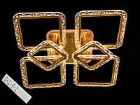 Светодиодная люстра с пультом диммером и цветной подсветкой бронза 2519-4+2, фото 1
