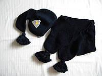 """Комплект """"Буратино"""" шапка+шарф синий"""