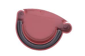 Заглушка желоба правая красная  130/100 Profil
