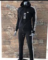 Женский спортивный костюм Adidas черный. Жіночий спортивний костюм Adidas чорний.