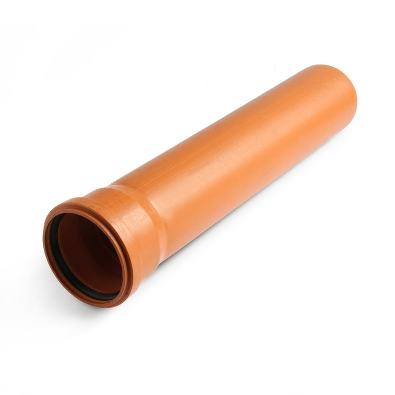 Труба 110 / 3000 мм (2.5) наружная рыжая монолитная Форт-пласт
