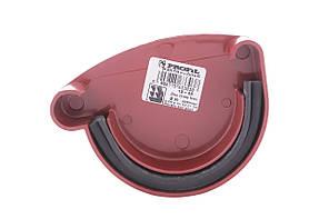 Заглушка желоба красная левая  130/100 Profil