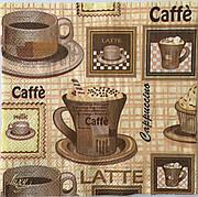 Салфетка для декупажа  33х 33 см кофе caffe cappuccino