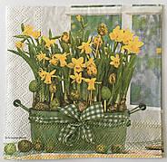 Салфетка для декупажа цветы в горшке 25x25 cм