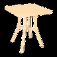 Стол квадратный Irak Plastik Royal 70x70 см тик