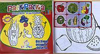 """Раскраска А4 Познавашка с наклейками и заданиями """"Овощи и фрукты"""""""