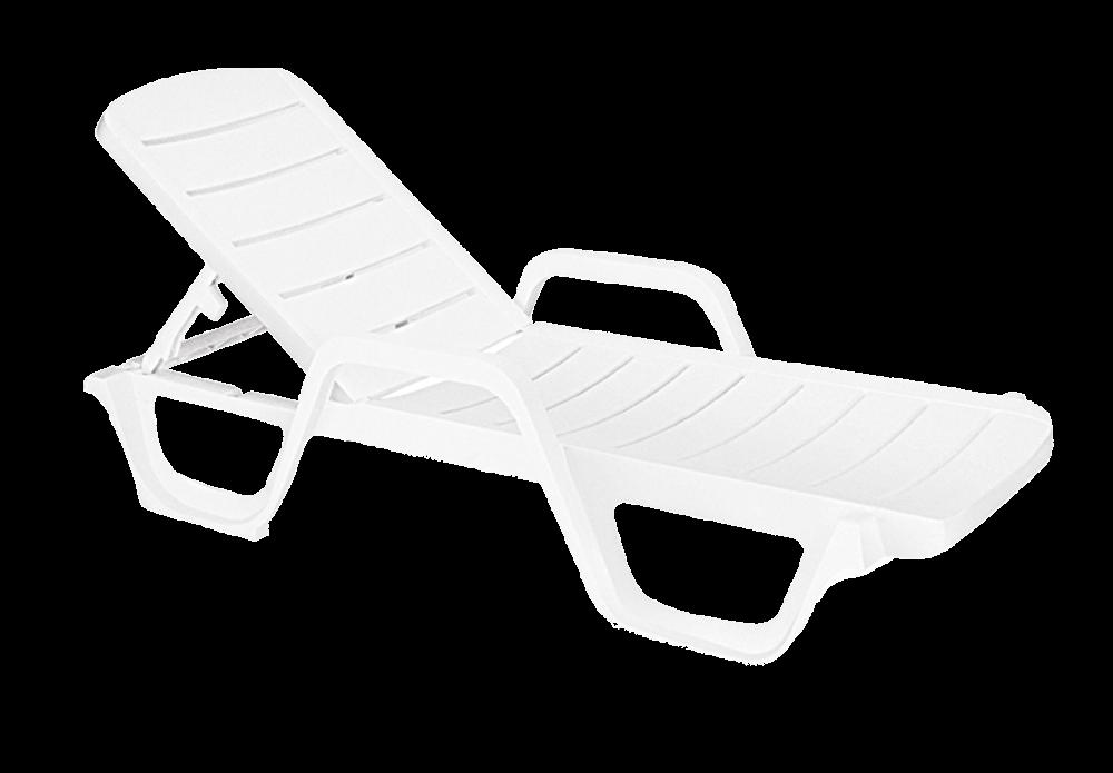 Шезлонг лежак Papatya Avangarde белый 01