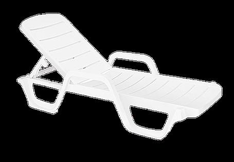 Шезлонг лежак Papatya Avangarde белый 01, фото 2