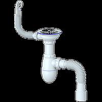 """Сифон для мийки з випуском 1 1/2 """"(d 40) (гранітна мийка)"""