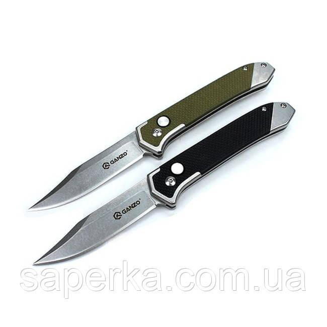 Нож складной  Ganzo G719, зеленый, черный