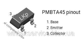 Транзистор PMBTA45 SOT23-3