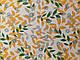 Ткань Шифон вискоза лиственная сказка, зеленый с оранжевым, фото 2