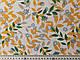 Ткань Шифон вискоза лиственная сказка, зеленый с оранжевым, фото 3