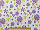 Коттон рисунок яркий цветочная сказка, сиреневый на белом, фото 2