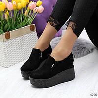 Женские закрытые туфли на платформе, фото 1