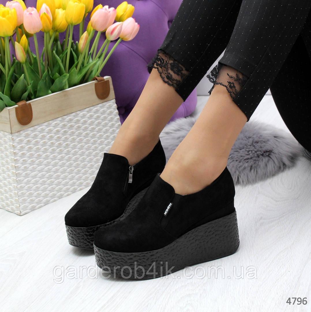 Женские закрытые туфли на платформе