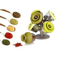 Набор баночек для специй и приправ Pop Up Spice Rack из 6 сосудов | спецовник 6 шт! Хит продаж