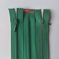 Молния крашенный металл неразъемная 3 RIRI, 22, 25, 30, 35, 40, разные цвета, пудровый 220, Холодный зеленый