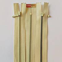 Молния крашенный металл неразъемная 3 RIRI, 22, 25, 30, 35, 40, разные цвета, пудровый 250, Светло-желтый