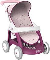 Smoby Прогулочная коляска для кукол пупсов с корзиной и козырьком прованс 251003 Baby Nurse