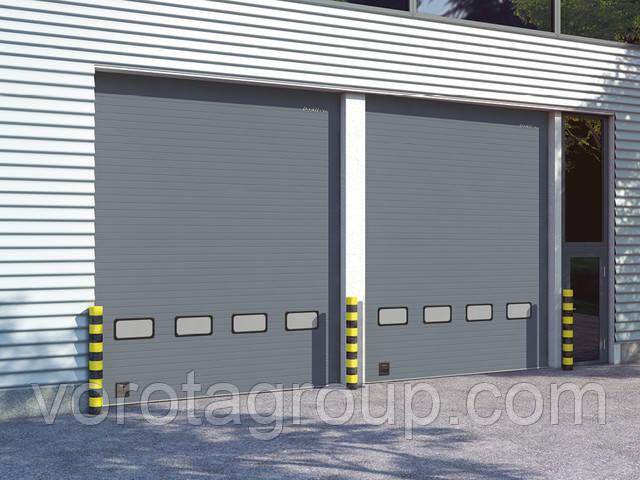 Секционные промышленные воротa с малой интенсивностью использовaния, с низким и стандартным типами подъема