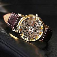 Мужские стильные часы Winner Skeleton