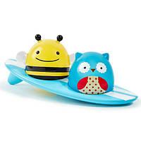 Skip Hop Zoo Игрушка для купания Маленькие серферы сова и пчелка Bath Light-Up Surfers Bath Toys Owl Bee
