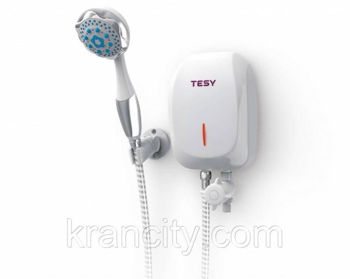 Эл. проточный водонагреватель TESY с душевой лейкой 5,0 кВт (IWH 50 X02 BA H)