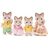 Sylvanian Families Calico Critters Семья котов Сэнди 1406 Sandy Cat Family